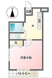 東京都江戸川区南葛西6丁目の賃貸マンションの間取り