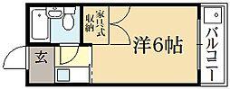ロイヤルハイツ上賀茂[2階]の間取り
