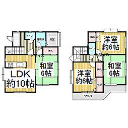 [一戸建] 東京都武蔵村山市中藤1丁目 の賃貸【/】の間取り