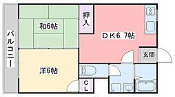 福岡県福岡市早良区南庄3丁目の賃貸マンションの間取り