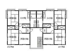 ドミール勝田台[2階]の間取り