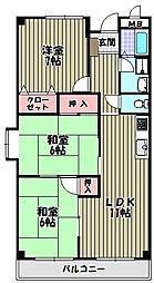 鳴尾館[2階]の間取り