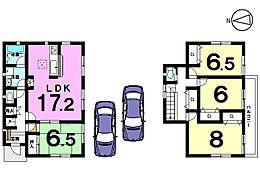 全居室6帖以上、収納スペースもたっぷり確保したゆとりある間取りです。