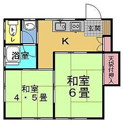 宮西荘[2階]の間取り