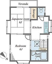 伊沢邸[2階]の間取り