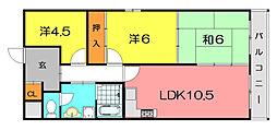 カサベルデイケダI[8階]の間取り