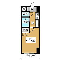 フォレスト七条[2階]の間取り