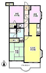 むさし野第8ダイヤモンドマンション[2階]の間取り