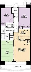 URアーバンラフレ小幡6号棟[5階]の間取り