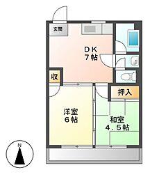 ファミール千代田[6階]の間取り