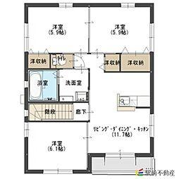 西鉄貝塚線 西鉄新宮駅 徒歩12分の賃貸アパート 2階3LDKの間取り