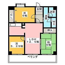 坂野マンション[8階]の間取り