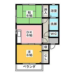 TWIN PALACE E棟[2階]の間取り