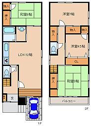 [一戸建] 兵庫県神戸市兵庫区松本通8丁目 の賃貸【/】の間取り