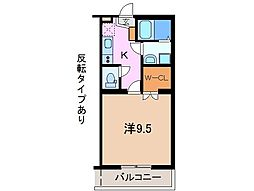 静岡県御殿場市中山の賃貸マンションの間取り