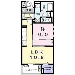 小田急小田原線 相武台前駅 徒歩9分の賃貸マンション 4階1LDKの間取り