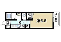 マ・メゾン栄II 1階1Kの間取り