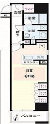 グレーシア横浜関内クオリテ[7階]の間取り