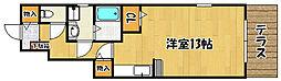 JR山陽本線 明石駅 バス8分 西河原下車 徒歩6分の賃貸アパート 1階1Kの間取り