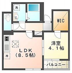 サクラハイム[1階]の間取り