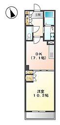 パークアクシス白壁[4階]の間取り