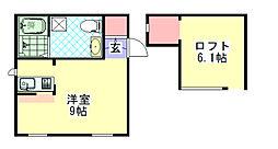 プリマグレイス[2階]の間取り