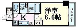 Osaka Metro堺筋線 扇町駅 徒歩5分の賃貸マンション 5階1Kの間取り