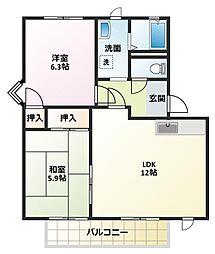 サンロードS2A[2階]の間取り