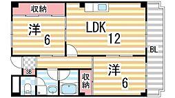 京ハイツ1[3階]の間取り
