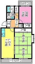 プラム惣利[3階]の間取り