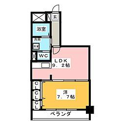 アルファレガロ西古松[2階]の間取り