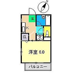 ウィンドワード翔II[2階]の間取り