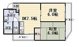 コーポARAMAN[3階]の間取り