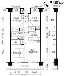 クリサンテーム妙典[5階]の間取り