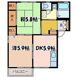 メゾン・ド・シャルム B[2階]の間取り