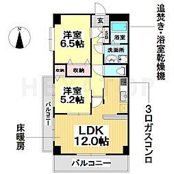 愛知県名古屋市瑞穂区八勝通3丁目の賃貸マンションの間取り