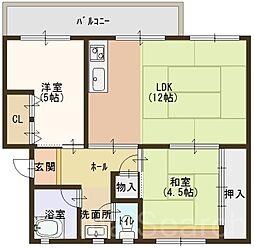 浅香山住宅7棟[1階]の間取り