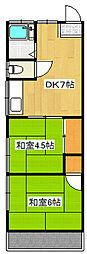 コーポ島田[2階]の間取り