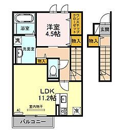 清友ハウス[2階]の間取り