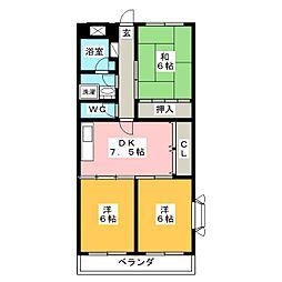 トランキル伊藤[3階]の間取り