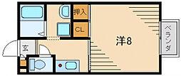 サンモールB棟[2階]の間取り
