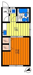 嶋野コーポ[202号室]の間取り
