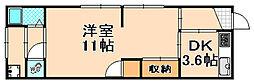 兵庫県伊丹市平松2丁目の賃貸アパートの間取り