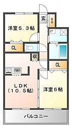 ユカミハイツ江坂[11階]の間取り