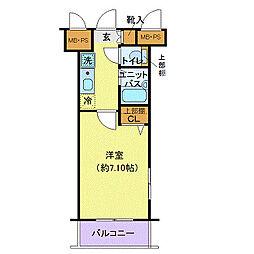 ヴェルト日本橋III(ヴェルトニホンバシスリー)[8階]の間取り