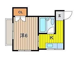 曽山コーポ[2階]の間取り
