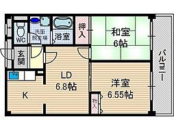 レガセ増井[3階]の間取り