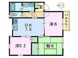 フォーエバー21[2階]の間取り
