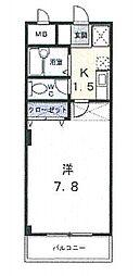 コンフォート富士III[202号室]の間取り