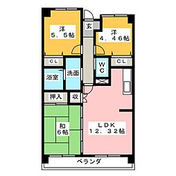 VINTAGE21[1階]の間取り